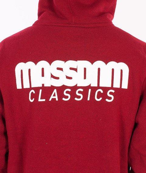 Mass-Classics Bluza Zip Bordowa