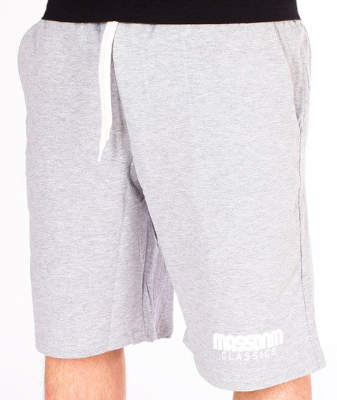 Mass-Classics Spodnie Dresowe Krótkie Light Heather Grey