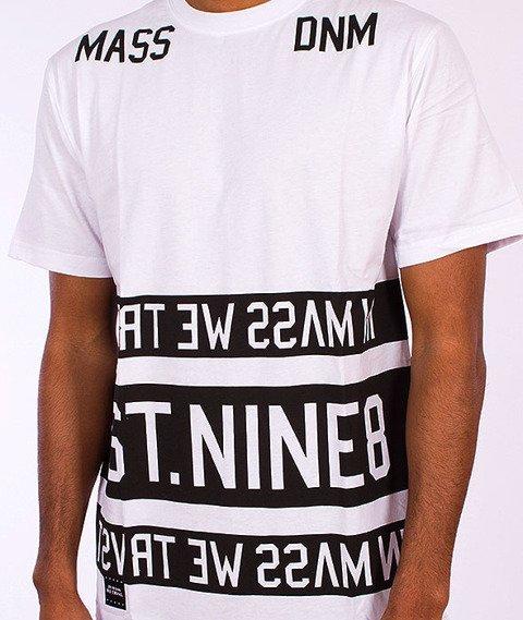 Mass-Dyme Long T-Shirt Biały