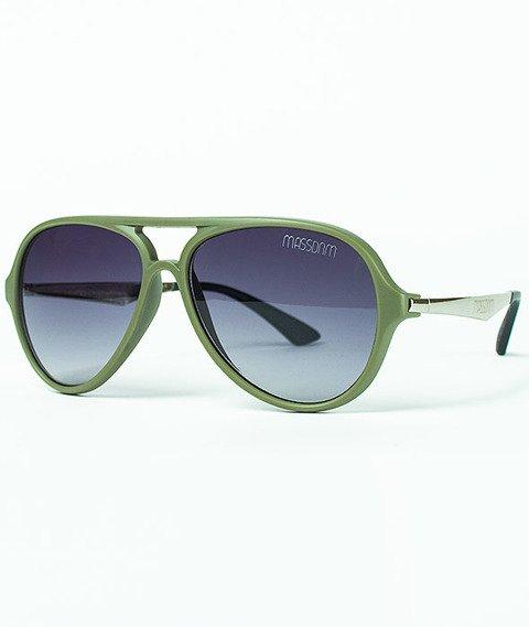 Mass-George Sunglasses Matte Khaki/Silver