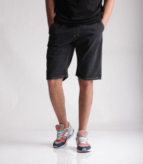 Mass Jeans Classics Straight Fit Spodnie Krótkie Black Rinse