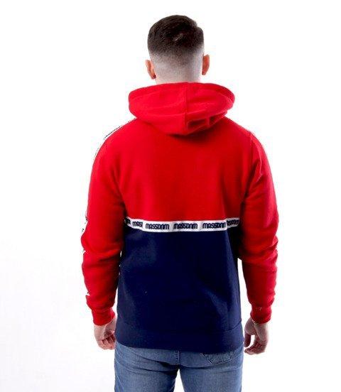 Mass-Mass DNM bluza Sweatshirt Line Hoody Granatowo Czerwona