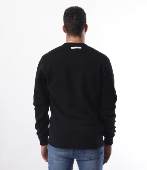 Mass-Mass- bluza Sweatshirt Crewneck Classic small logo Czarna