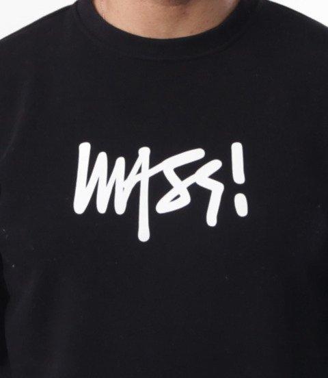 Mass-Mass- bluza Sweatshirt Crewneck Signature medium logo Czarna