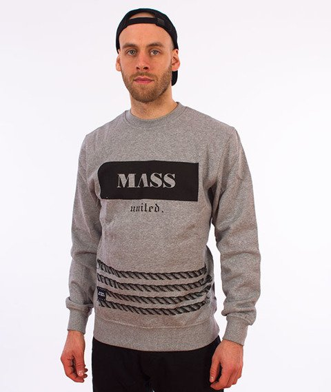Mass-Plate Crewneck Bluza Szara
