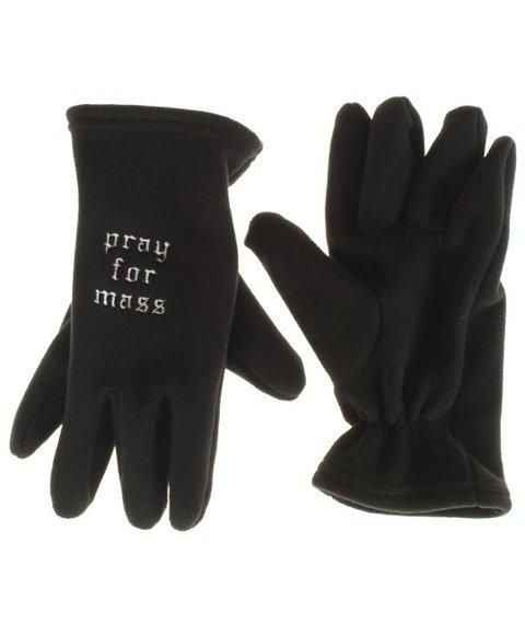 Mass-Plate Gloves Rękawiczki Czarne