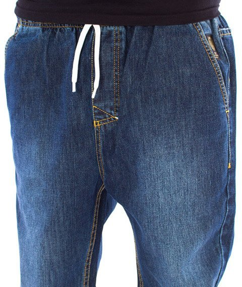 Mass-Signature Jogger Jeans Spodnie Dark Blue