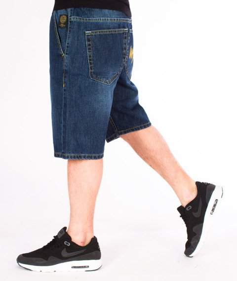 Mass-Signature Shorts Jeans Straight Fit Dark