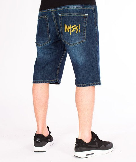 Mass-Signature Shorts Jeans Straight Fit Dark
