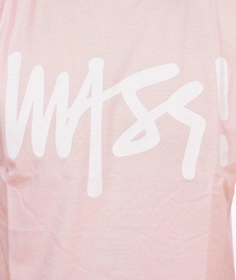 Mass-Signature T-shirt Różowy