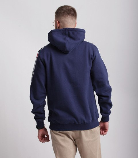 Mass TRACK Bluza z Kapturem Granatowy