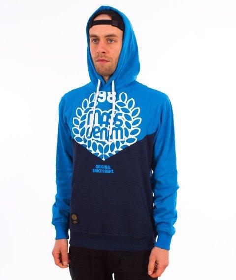 Mass-V Bluza Kaptur Blue