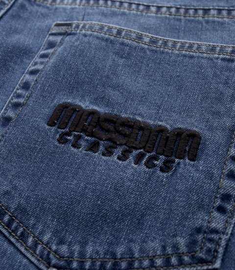 Mass-spodnie Jeans Classic Straight Fit Niebieskie