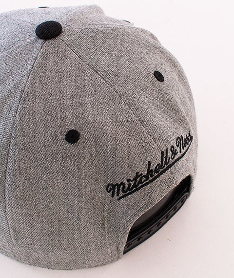 Mitchell & Ness-2 Tone Label Box Logo Snapback Grey Heather NE18Z