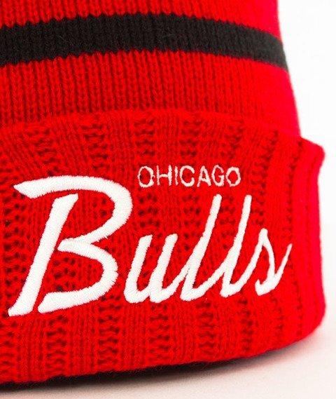 Mitchell & Ness-Chicago Bulls Colour Block Special Script Knit Czapka Zimowa