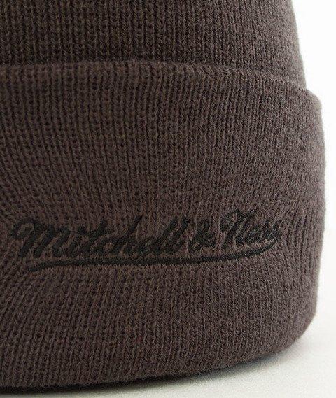 Mitchell & Ness-Chicago Bulls Team Logo Cuff Knit Czapka Zimowa Szara