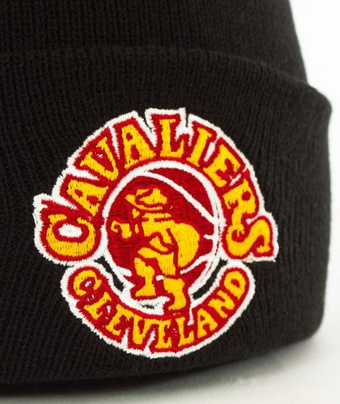 Mitchell & Ness-Cleveland Cavaliers Team Logo Cuff Knit Czapka Zimowa Czarna