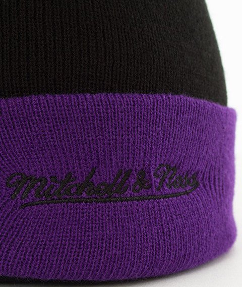Mitchell & Ness-Los Angeles Lakers Arched Cuff Knit Czapka Zimowa Czarna
