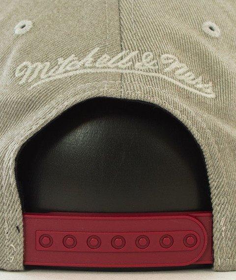 Mitchell & Ness-Miami Heat Snapback Czapka Szara