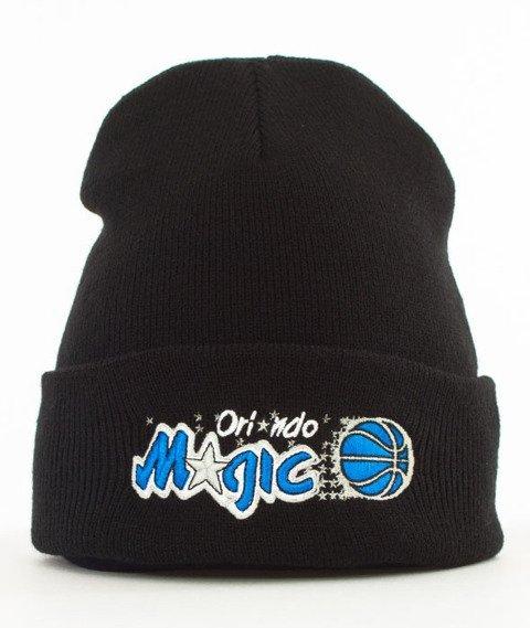 Mitchell & Ness-Orlando Magic Team Logo Cuff Knit Czapka Zimowa Czarna