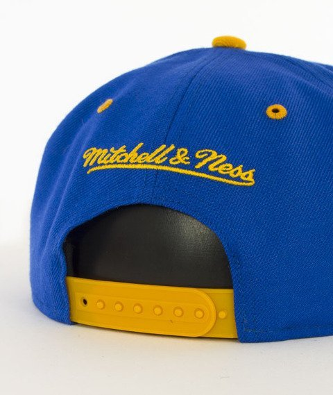 Mitchell & Ness-Team Arch Golden State Warriors Snapback NA80Z Niebieski/Żółty