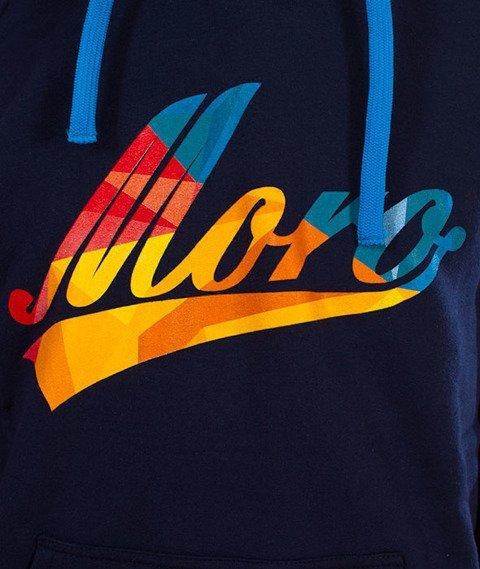 Moro Sport-Baseball Multikolor Bluza Kaptur Granatowa