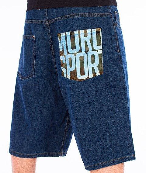 Moro Sport-Moro Sport Spodnie Krótkie Średni Jeans