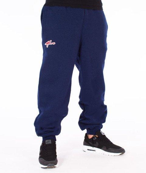 Moro Sport-Paris Spodnie Dresowe Granatowe