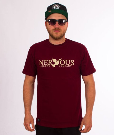 Nervous-Classic Sp18 T-shirt Maroon