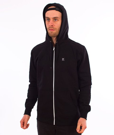 Nervous-Icon Bluza Kaptur Zip Black