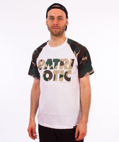 Patriotic-CLS Camo T-shirt Biały/Woodland Camo