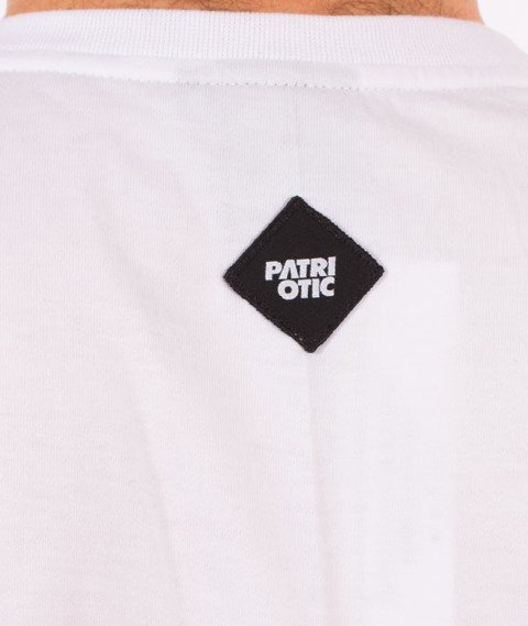 Patriotic-CLS Fonts Pion T-shirt Biały