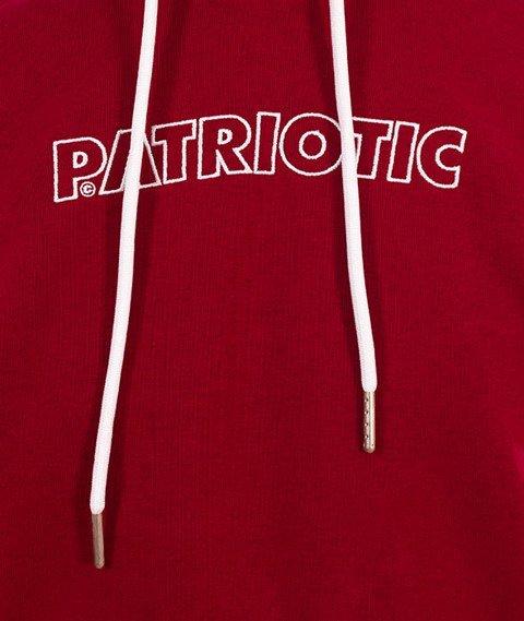 Patriotic-Futura Mini Bluza Kaptur Bordo