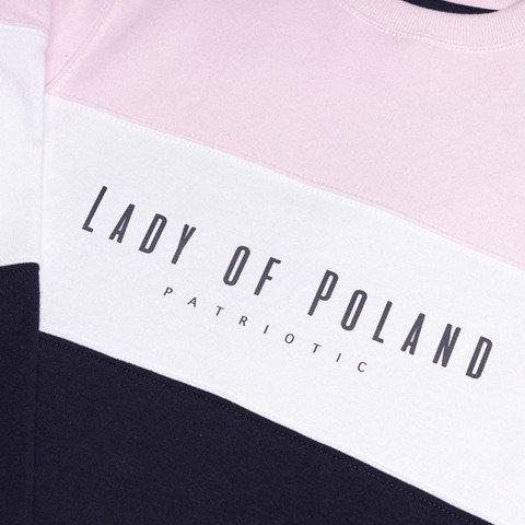 Patriotic Lady of Poland Trio Bluza Różowy / Granatowy