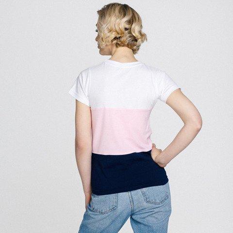 Patriotic Lady of Poland Trio T-Shirt Biały/Różowy