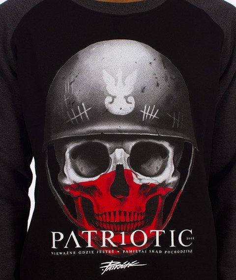 Patriotic-Skull New Bluza Czarna/Grafitowa