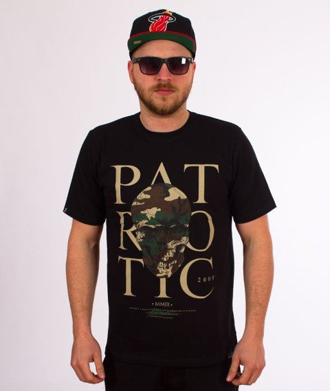 Patriotic-Skull Poland Camo T-shirt Czarny