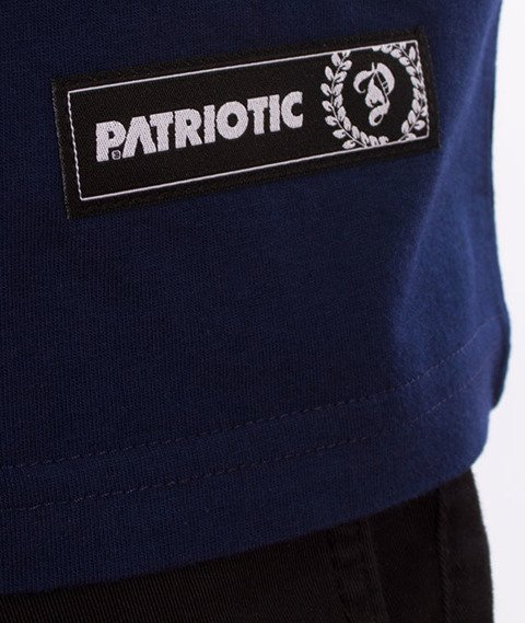 Patriotic-Sticker T-shirt Granat