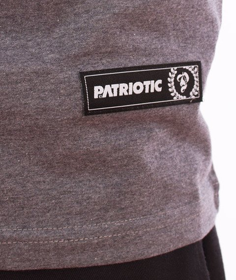 Patriotic-Sticker T-shirt Melanż