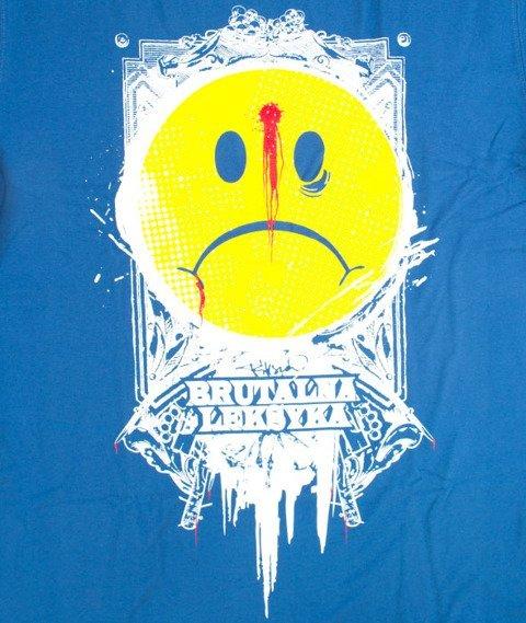Pihszou-Brutalna Leksyka T-shirt Niebieski