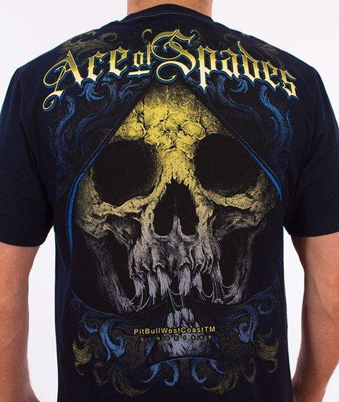 Pit Bull West Coast-Ace Of Spades T-Shirt Granatowy