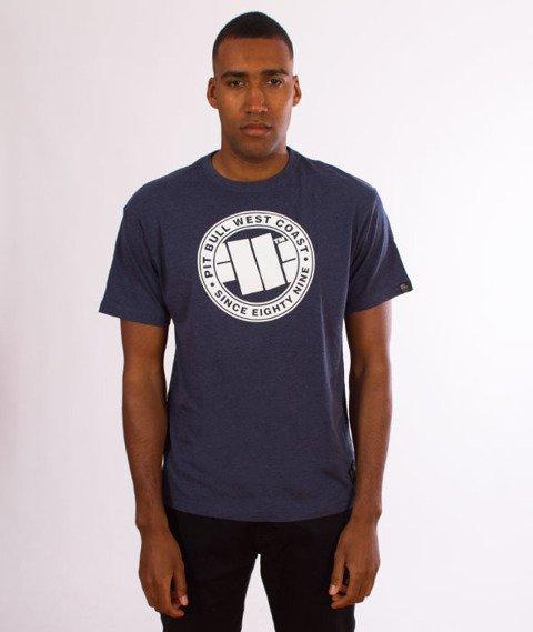 Pit Bull West Coast-Chest Logo T-Shirt Navy