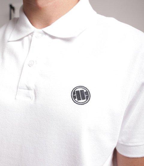 Pit Bull West Coast-Circle Logo Polo Białe