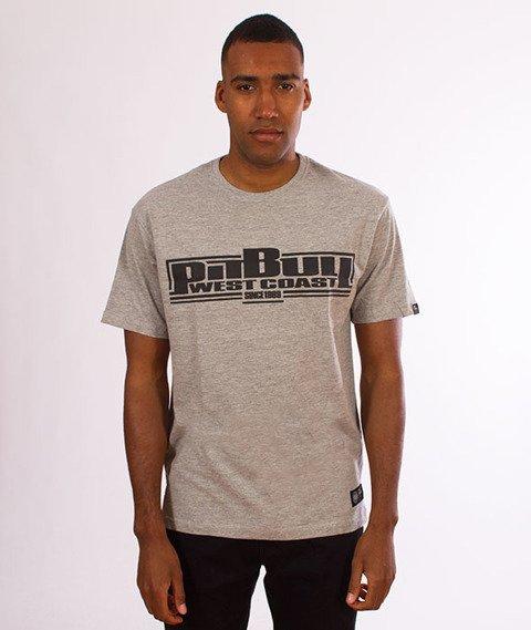 Pit Bull West Coast-Classic Boxing T-Shirt Grey