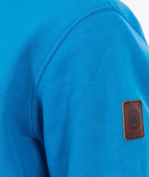 Pit Bull West Coast-Classic Logo Bluza Kaptur Niebieski