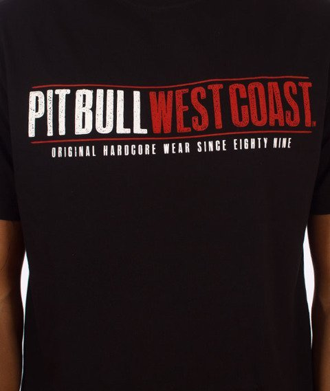Pit Bull West Coast-Grim Dog T-Shirt Czarny