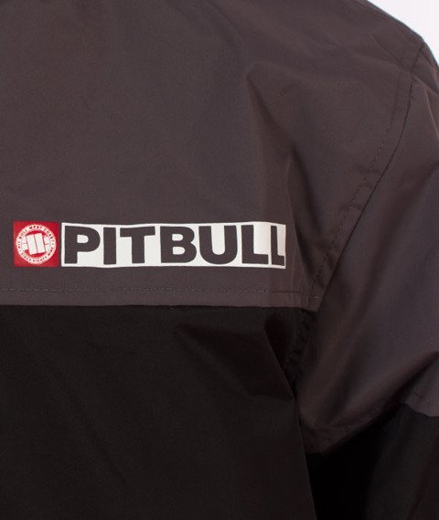 Pit Bull West Coast-Hooded Windbreaker Homelands 2 Kurtka Wiatrówka Black/Anthracite