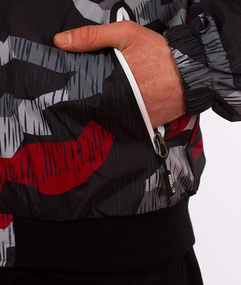 Pit Bull West Coast-Hooded Windbreaker Homelands 2 Kurtka Wiatrówka Black/Red Camo