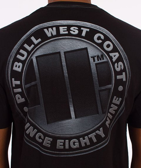 Pit Bull West Coast-Iron Plate T-Shirt Czarny