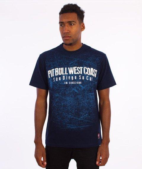 Pit Bull West Coast-Skull Dog T-Shirt Granatowy